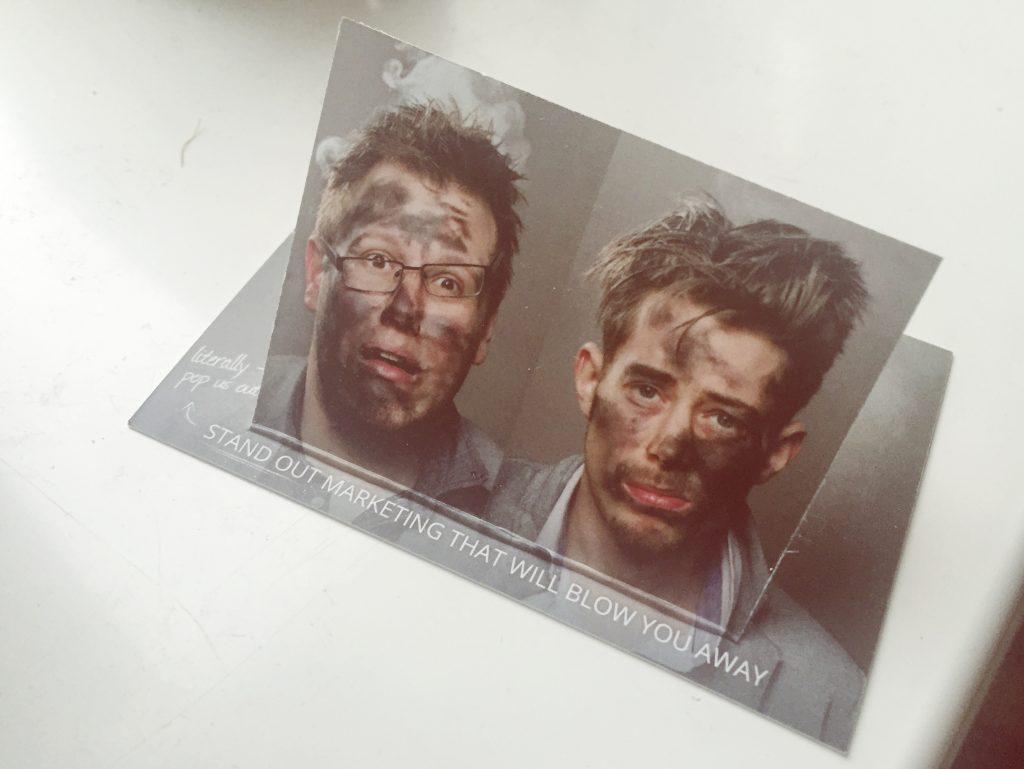 Atomic Headshot on Business Card, Guest-Vlog Blog Post