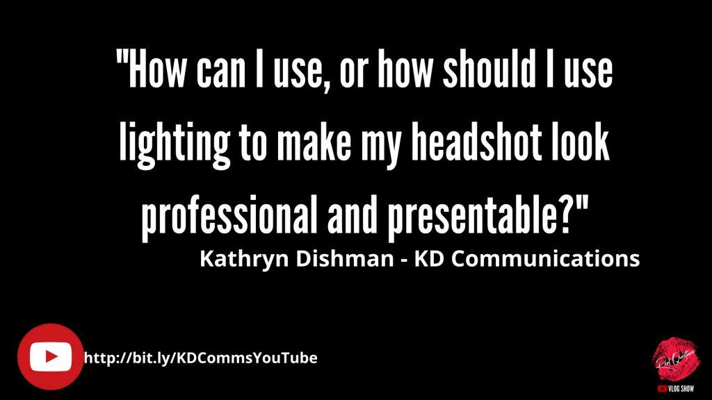 pro lighting for professional headshots