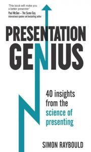 The Cover Photo of Dr Simon Raybould's Book - The Presentation Genius, Professional Photography