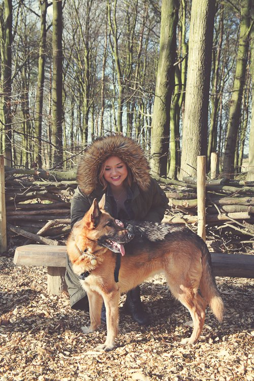 Ceryn and her beloved dog Kali