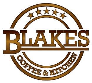 Blakes Coffee Shop Logo on White Background