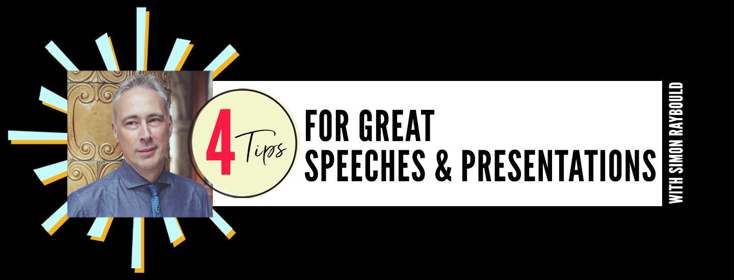 4 tips for crafting great speeches and presentations