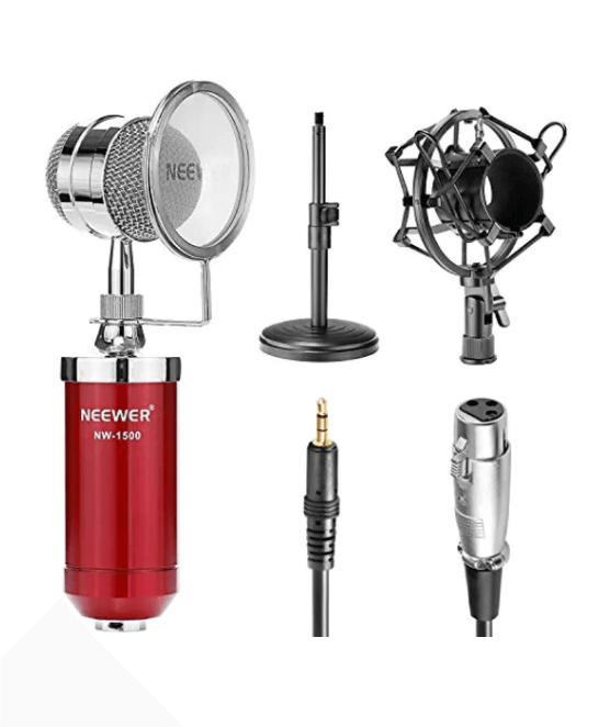 Neewer Red NW-1500 Desktop Broadcast & Recording Condenser Microphone